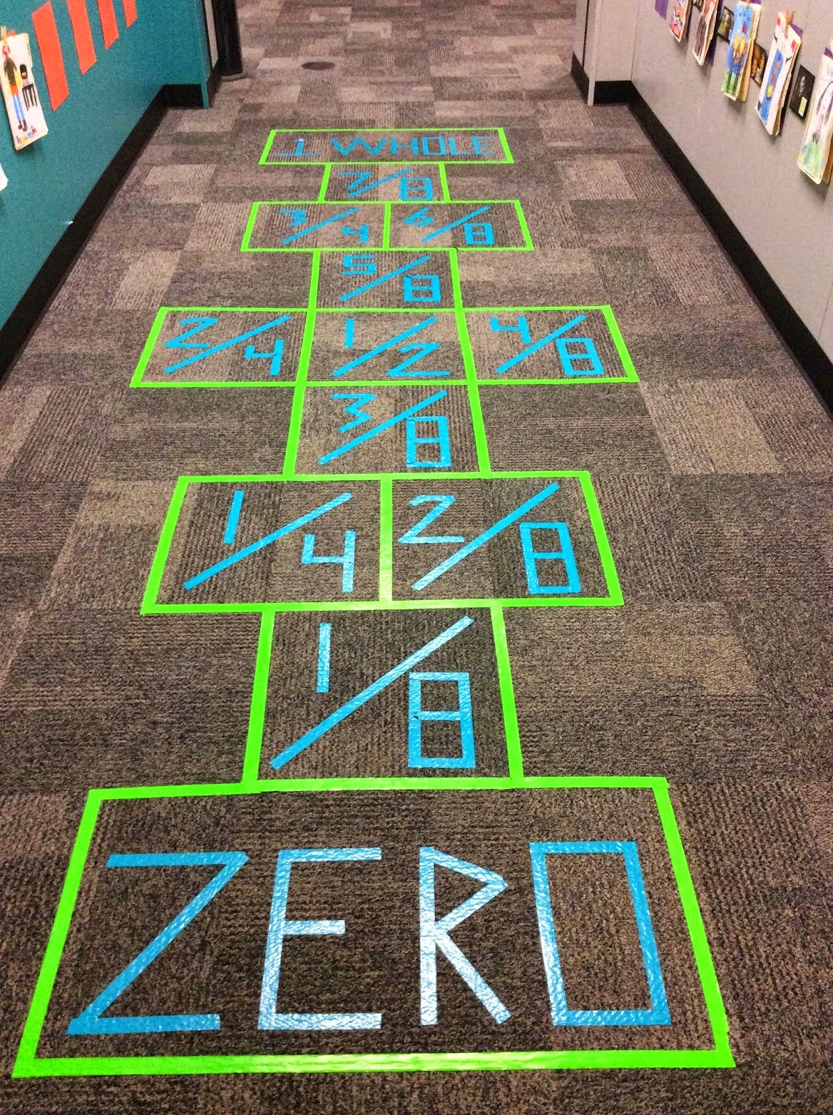 Fraction Hopscotch In The Maths Corridor  From Cisdmathmusingsspot