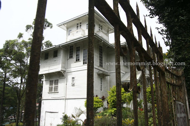 White colonial mansion
