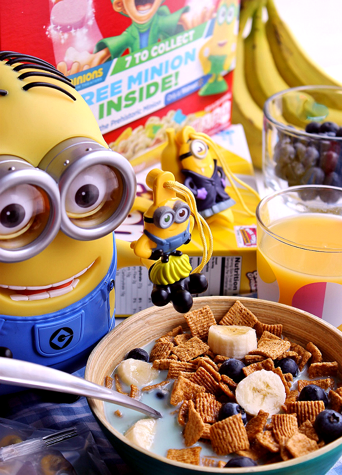 Find #The7thMinion in exclusive marked Family Size General Mills cereal boxes, only at Walmart. Will you find the Prehistoric minion? #ad