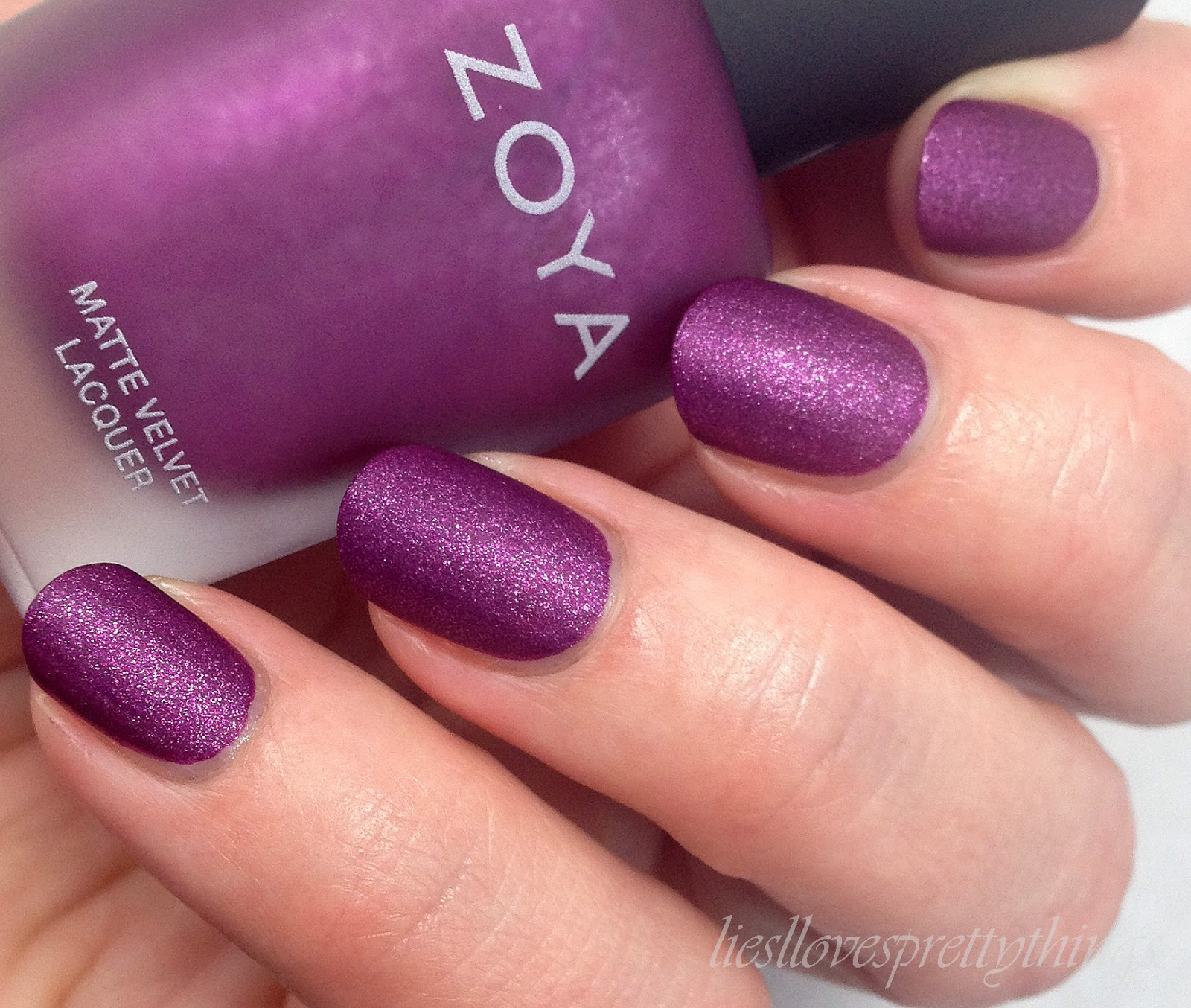 Zoya Harlow-- Matte Velvet Collection swatch and review