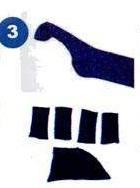 ... pola badan dan kepala, Gunting juga Kaos Kaki yang telah digambar pola