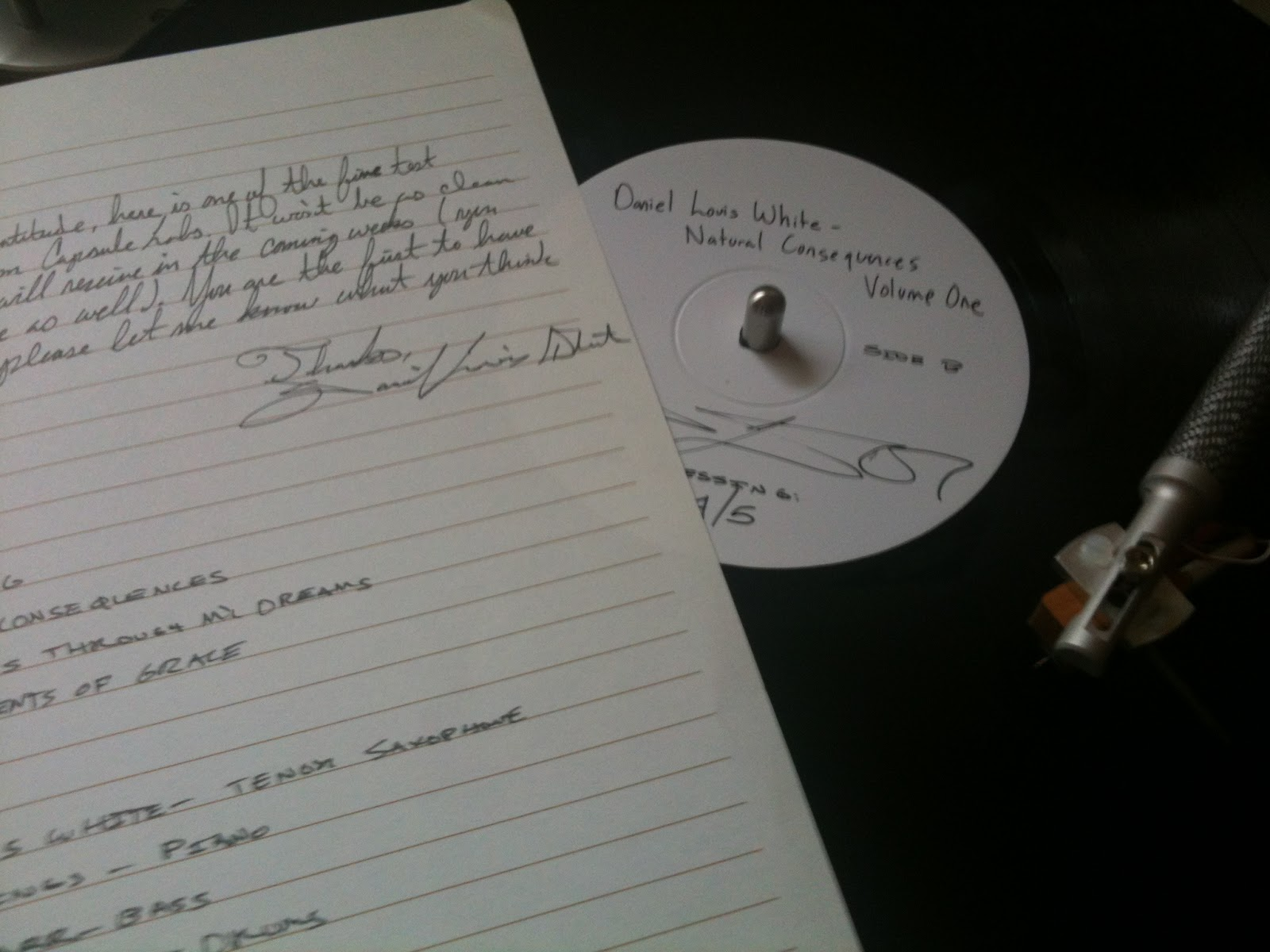 the vinyl anachronist: test pressing of daniel louis white's natural