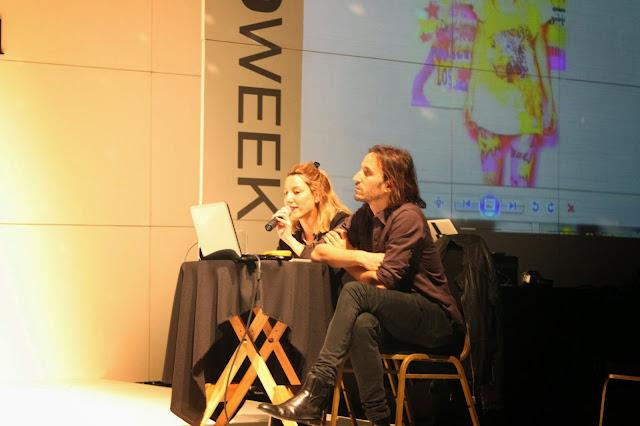 Diego y Noel Romero exponiendo en Moweek