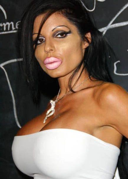 wanita gadis cewek seksi dengan bibir besar