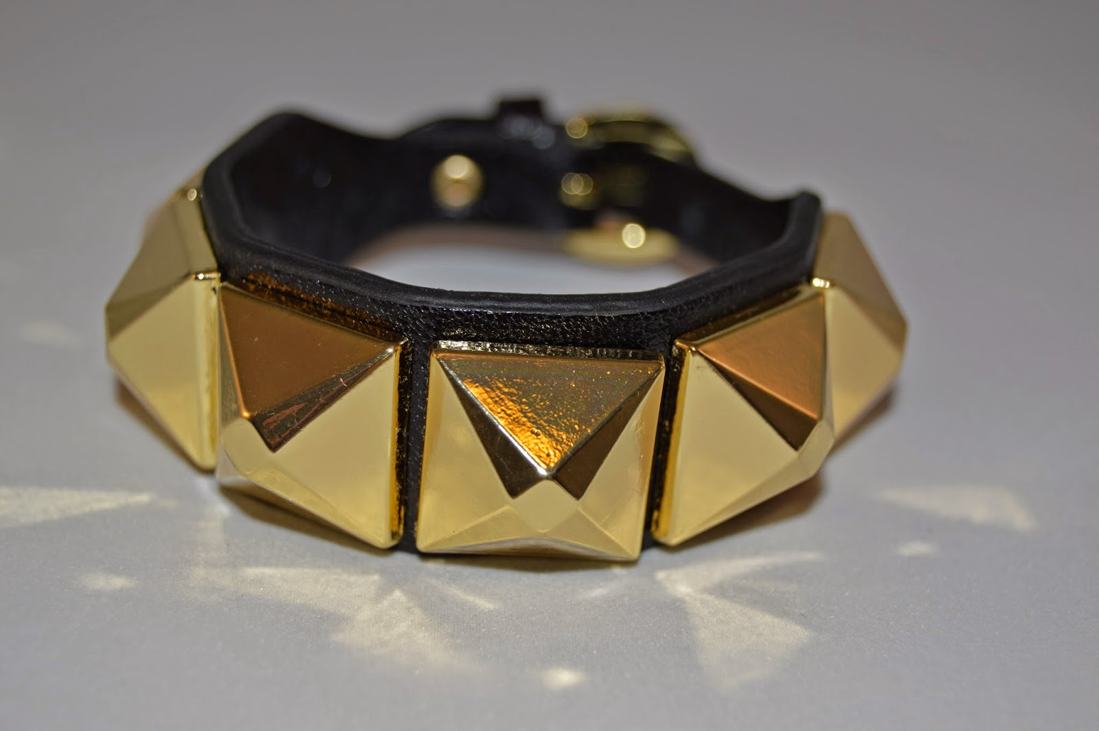 Winter Sales- Leather and Gold Studded Cuff from Banana Republic