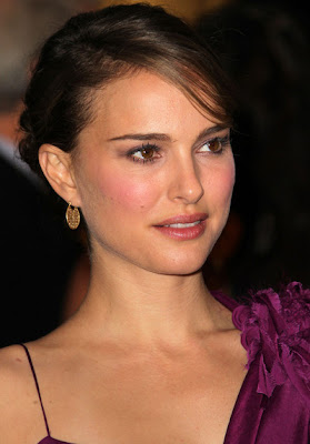 Natalie Portman Gold Hoop Earrings