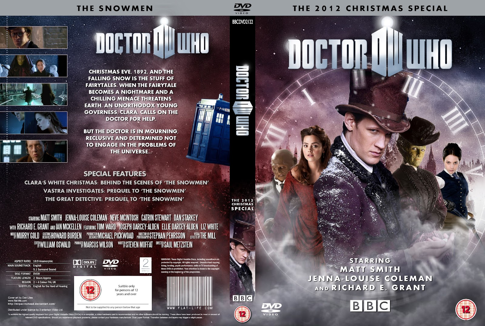 Capa DVD Doctor Who The Snowman