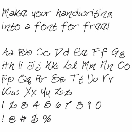 Create Font Handwriting