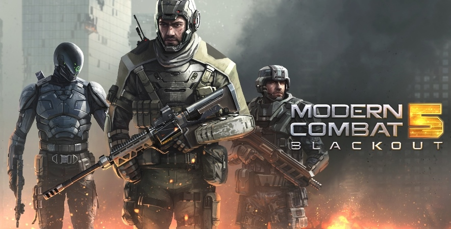 Modern Combat 5 APK Mod+Data (Invincible) download for android