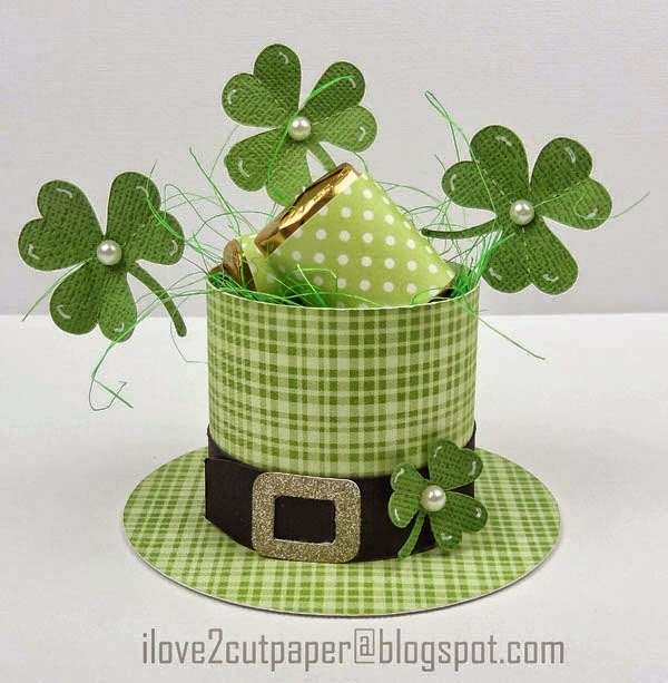 SVG and WPC cutting file for St Patrick's Day Favor Box