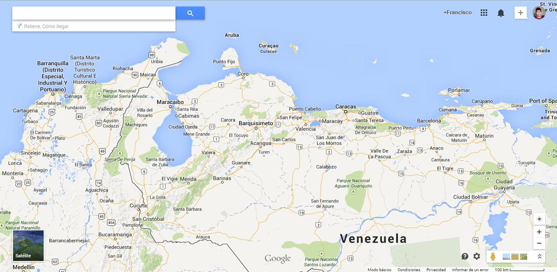 google maps Venezuela