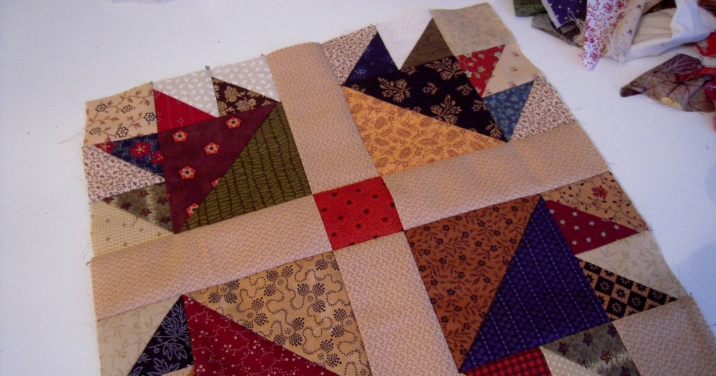 Quilt Patterns Using 12 Inch Squares : Sew Southern Quilts: Bear s Paw Quilt Block 12 inch - I love scrap quilts.