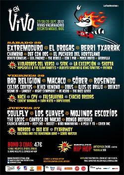 Bad Religion, Soulfly y Los Suaves cierran el cartel del Festival En Vivo