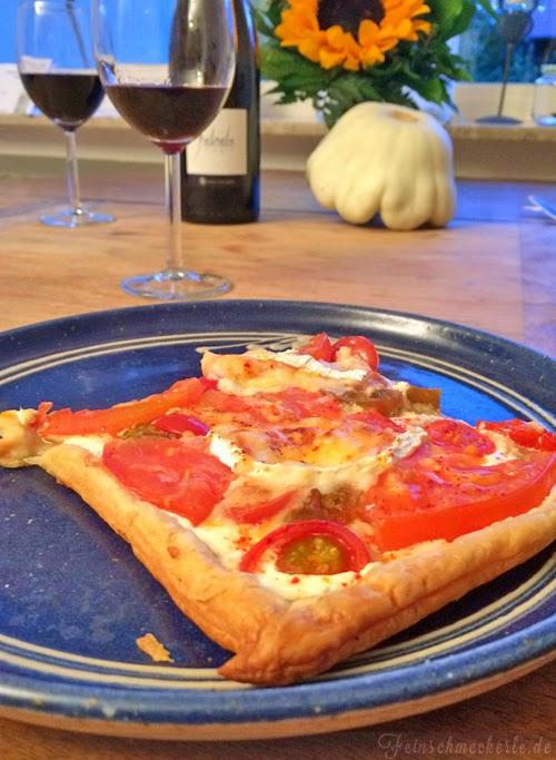 quiche tomate ziegenkäse blätterteig