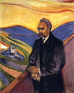 Friedrich Nietzsche @Edvard Munch, óleo sobre tela, 1906