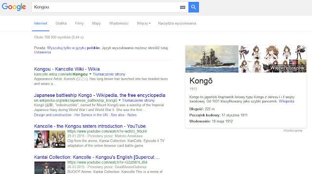 Kongou w Google