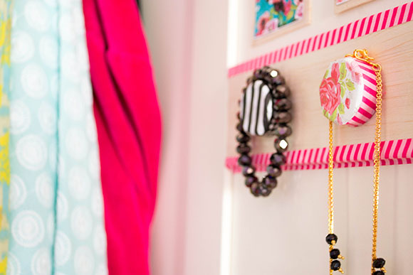 DIY closet organizer-in-door style!