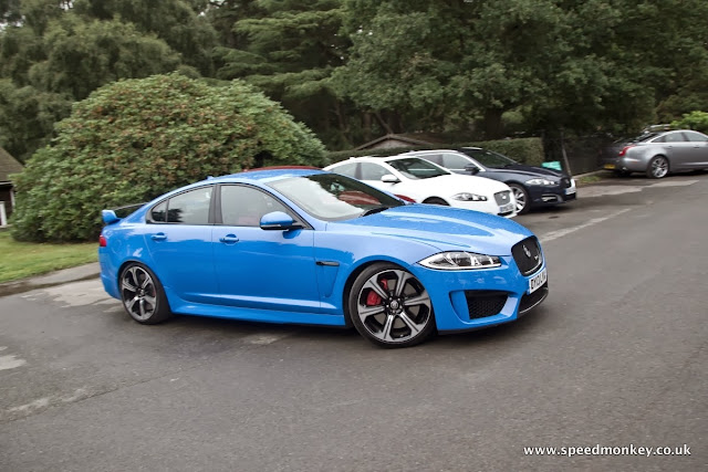 2013 Jaguar XFR-S in French Racing Blue
