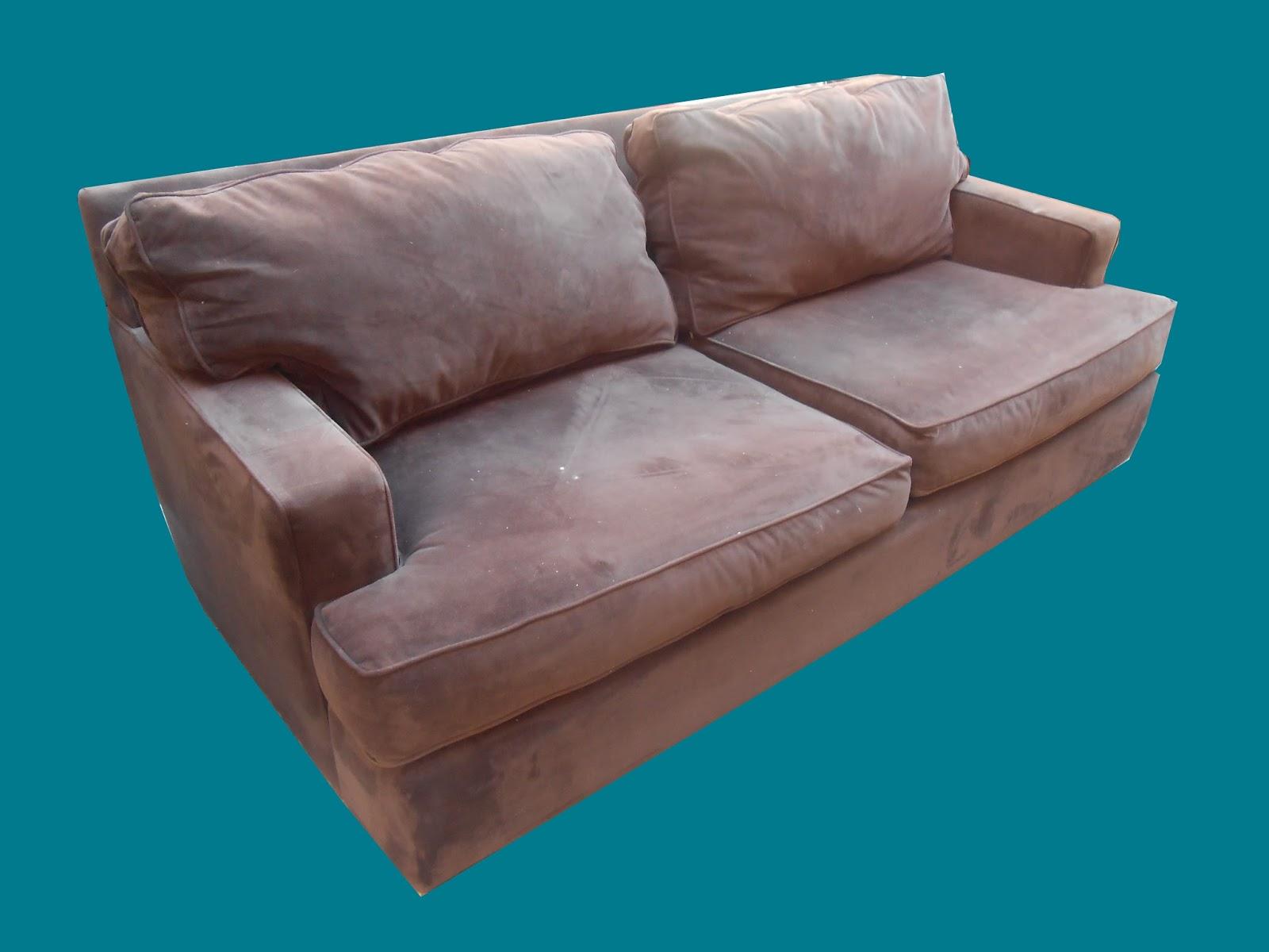 Uhuru Furniture & Collectibles: Dark brown microfiber couch ...
