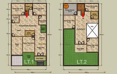 Desain Rumah Minimalis 2 Lantai Luas Tanah 72 M