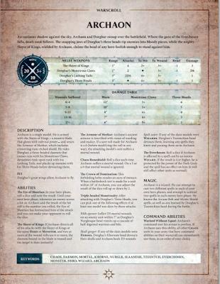 Reglas para Age of Sigmar de Archaon y Dorghar