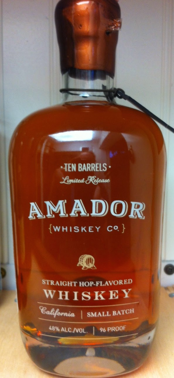 Amador Whiskey Co. Ten Barrels Hop Flavored Whskey 96 proof