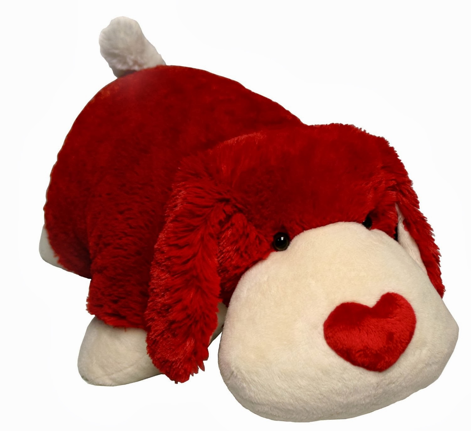"My Pillow Pets Luv Pup 18"" Large (Red and white)"