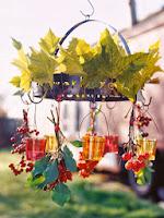 декорация с листа и шипки