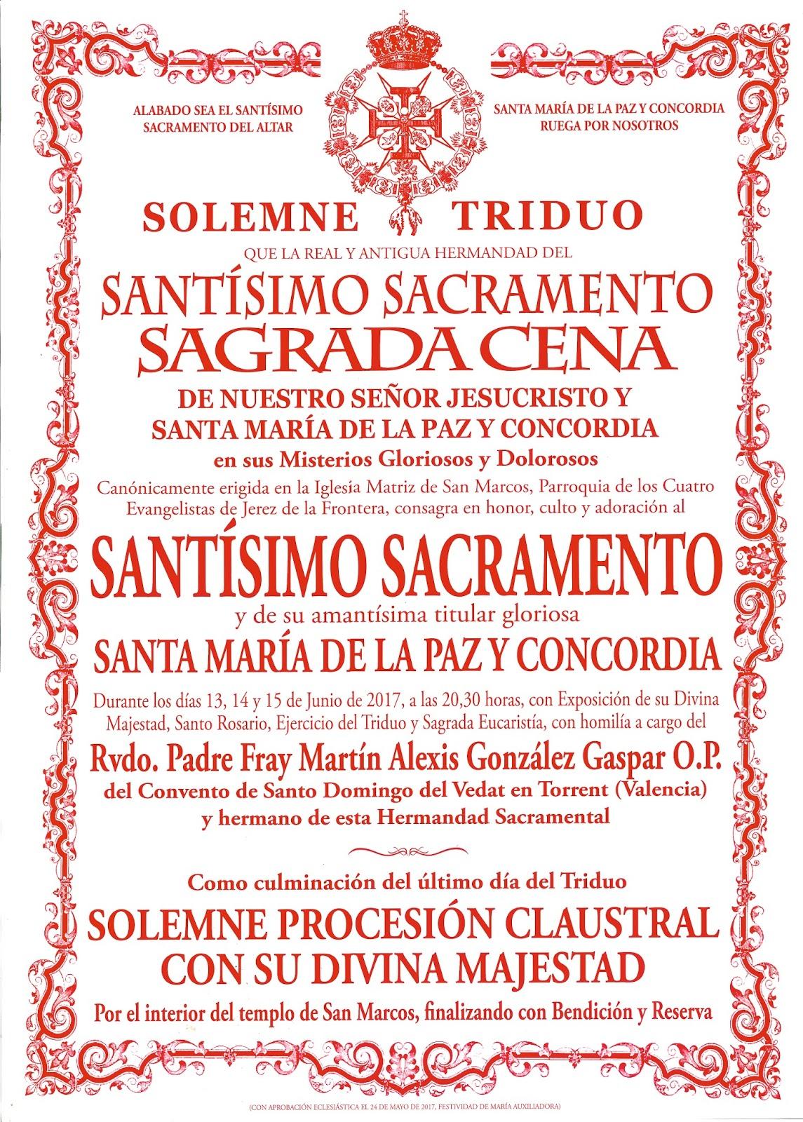 Triduo Sacramental