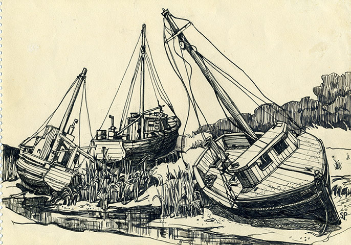 Line Drawing Boat : Wherefore art thou lines of beauty sylvia plath s pen