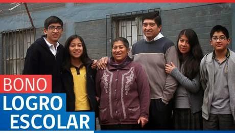 donde y como me inscribo para postular al bono logro escolar Chile 2014
