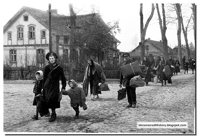 German refugees fleeing Grantsa District April 1945