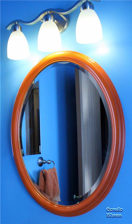 Bathroom Mirrors Stores condo blues: painted thrift store bathroom mirror