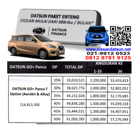 KREDIT DATSUN GO+ PANCA T OPTION ( AEROKIT & ALLOY ) PAKET ENTENG