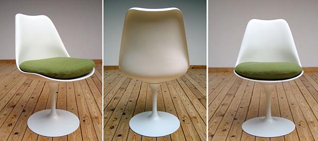 sillas vintage antiguas de los 50s -silla tulip 3 angulos