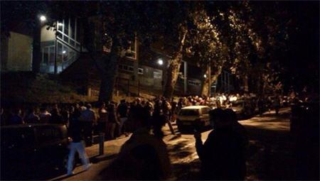 colas para donar sangre a medianoche en Santiago