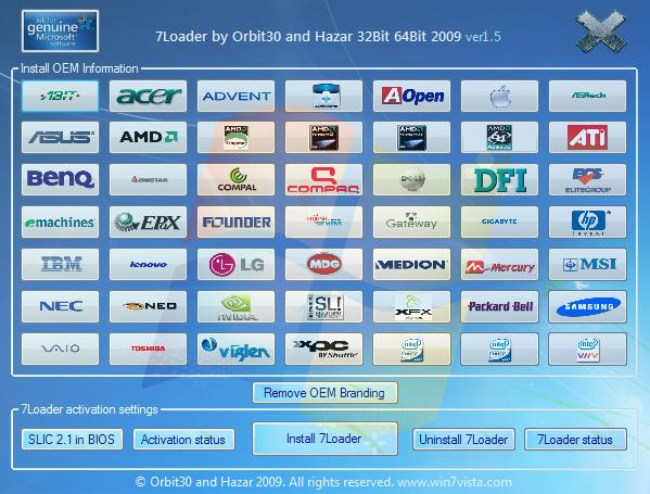 Windows Loader V1.9.7