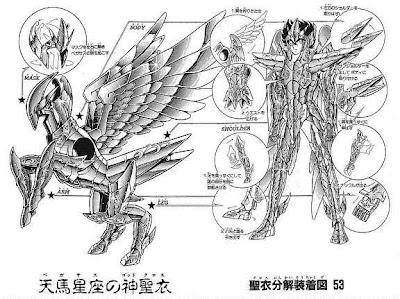Imágenes Caballeros del Zodiaco armaduras divinas.