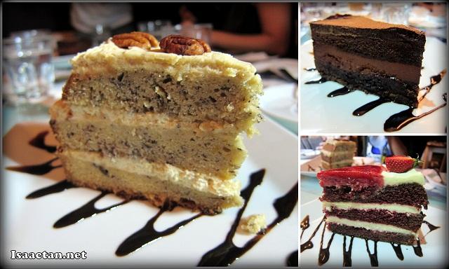 Banana Layered Cake - RM13.90, Chocolate Cake - RM16.90, Signature Red Velvet Cake - RM16.90)
