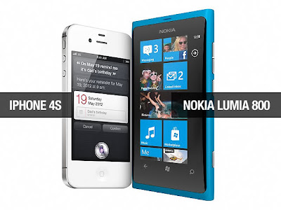 Nokia Lumia 800 vs iPhone 4S