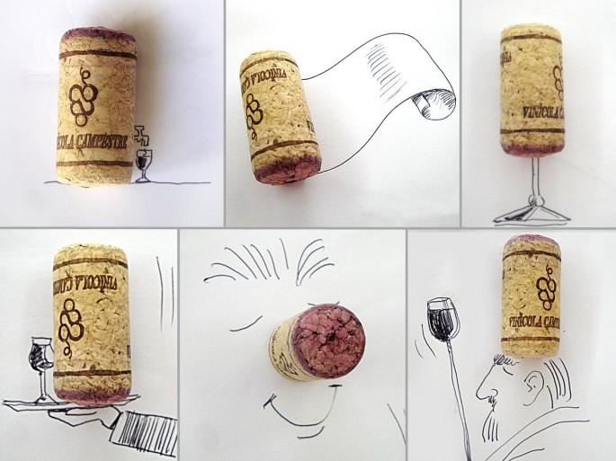 Desde elefante de palomita a ropas de lechuga - bocetos incorporan objetos cotidianos