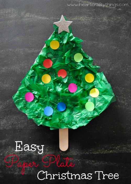 I Heart Crafty Things Easy Paper Plate Christmas Tree Craft
