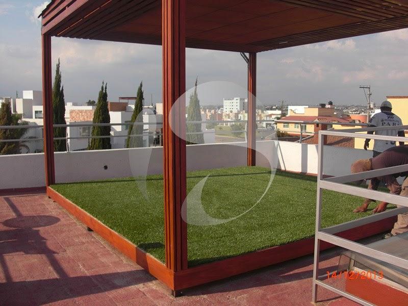 En d nde podemos instalar pasto sint tico ideas para - Cesped en terraza ...