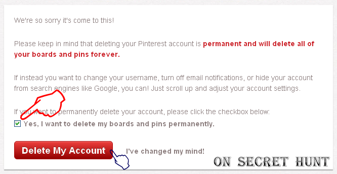 DeletePinterest3 How To Delete Or Remove Your Pinterest Account