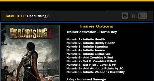 dead rising trainer