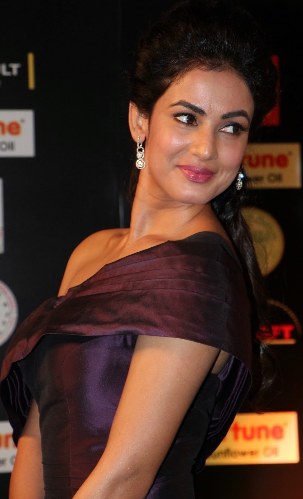 Sonal Chauhan Photos In Maroon Dress