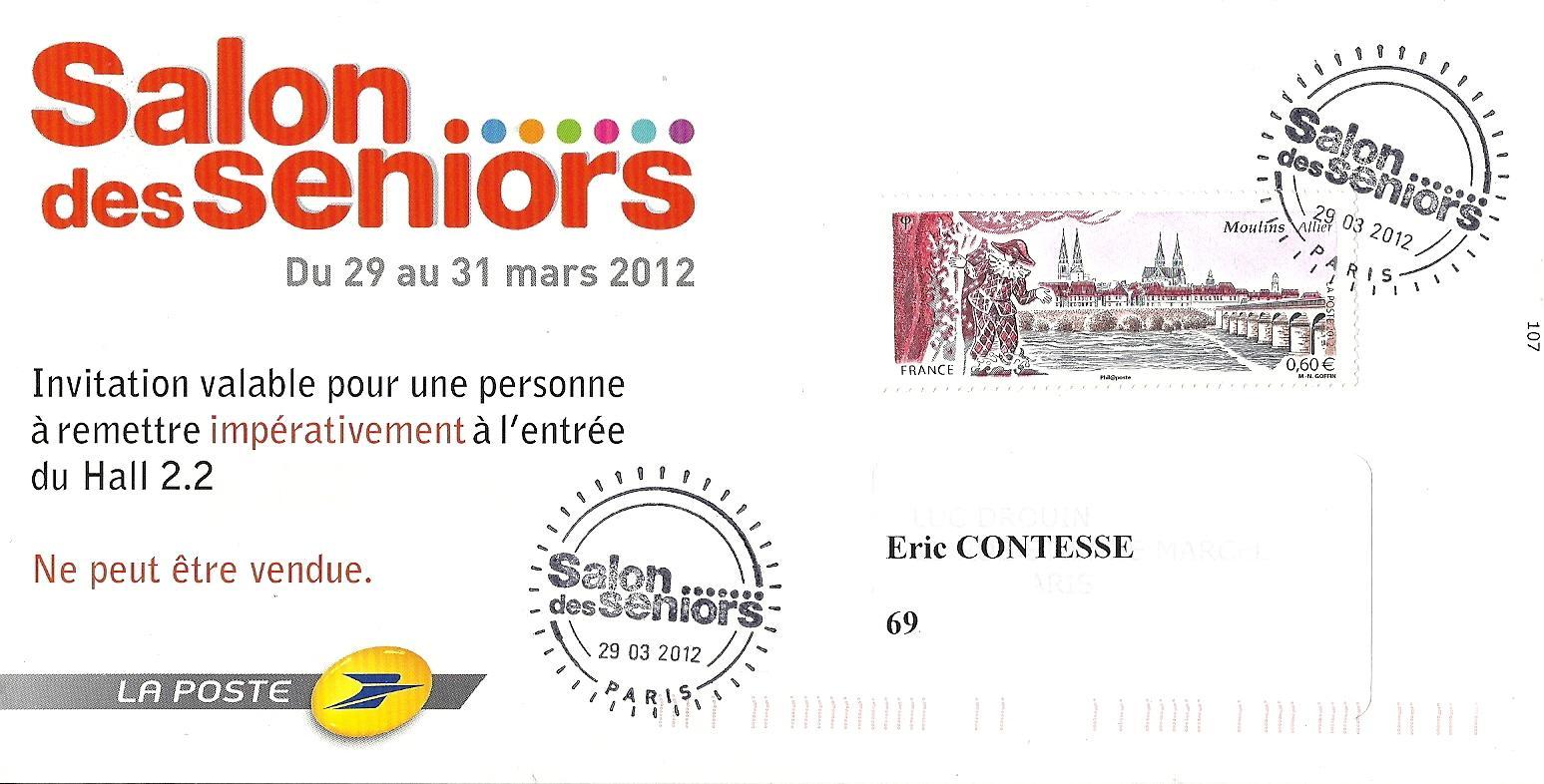 Blog timbr de ma philat lie souvenir timbr du salon des seniors 2012 - Salon des seniors paris invitation ...