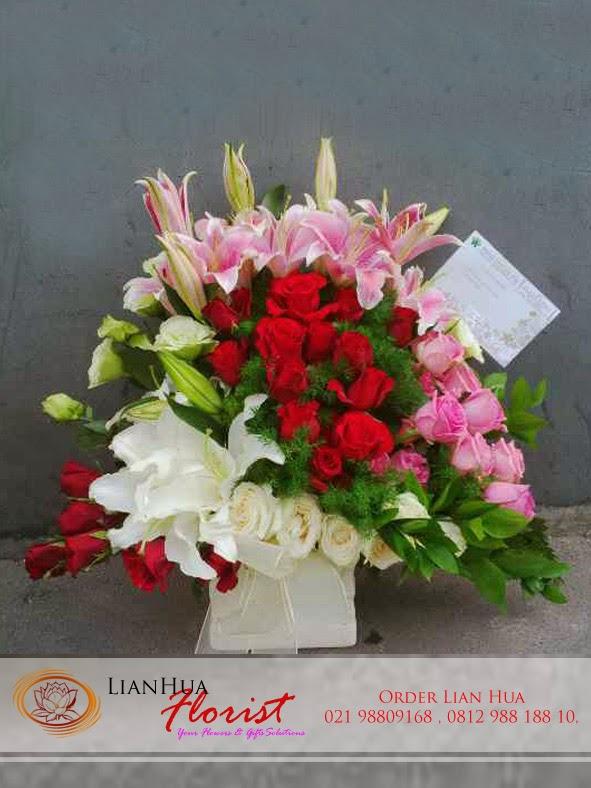 bunga meja peresmian kantor, karangan bunga ucapan pembukaan restoran, toko bunga