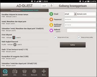 aplikasi android penghasil uang adquest