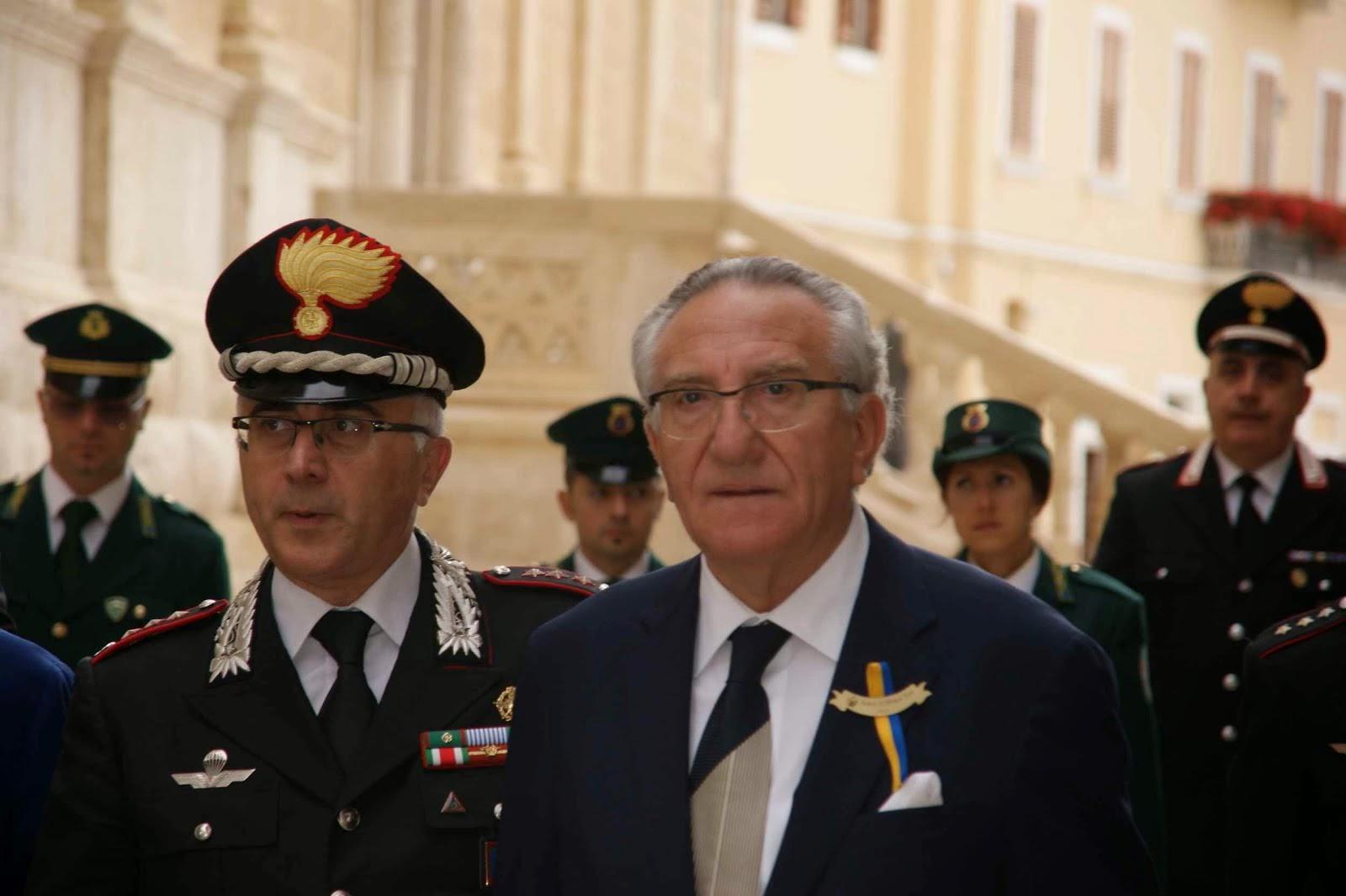 Gravina-Bari, Il Comandate Provinciale, presente alla cerimonia